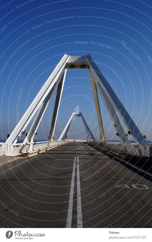 Street Contentment Earth Architecture Road traffic Transport Bridge Harbour Connection Traffic infrastructure Motoring Geometry Barcelona Symmetry