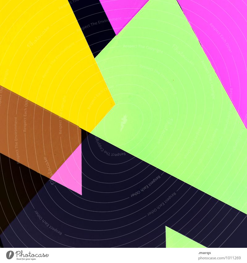80s Lifestyle Elegant Style Design Exceptional Cool (slang) Sharp-edged Hip & trendy Modern Brown Yellow Green Violet Pink Black Esthetic Illustration