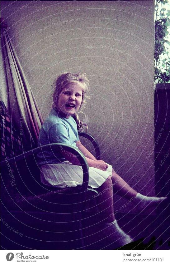 Forty years ago. Child Girl Nostalgia Memory Balcony Summer Pleated skirt
