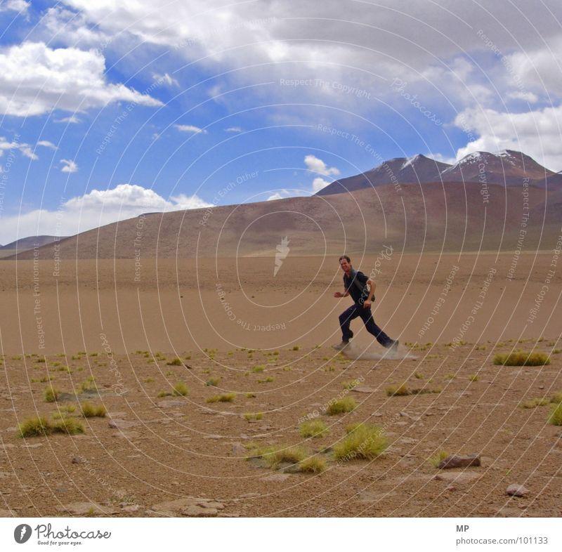 Sky Plant Joy Mountain Sand Desert Moon Tourist Volcano Dust Bolivia High plain Andes Landscape Yeti