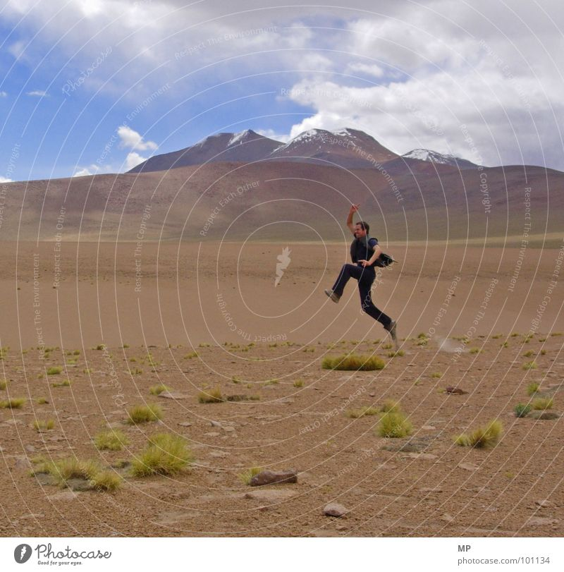 Sky Plant Joy Mountain Sand Desert Moon Tourist Volcano Dust Bolivia High plain Andes Yeti
