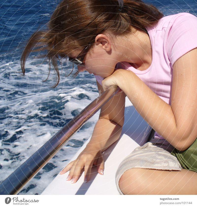 Woman Water Girl Sun Ocean Green Blue Summer Vacation & Travel Relaxation Dream Watercraft Pink Wind Trip Africa