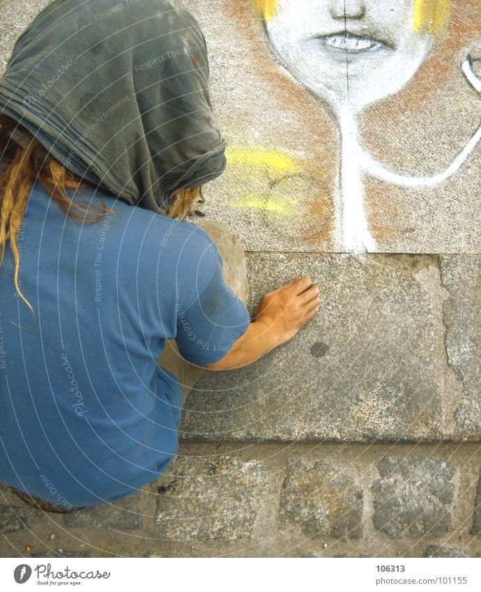 THEY CALLED HIM BASQUIAT Art Acrobat Dreadlocks Fingers Hand Gray Yellow White Think Dresden Conceptual design Comic Human being Style Street art Alternative