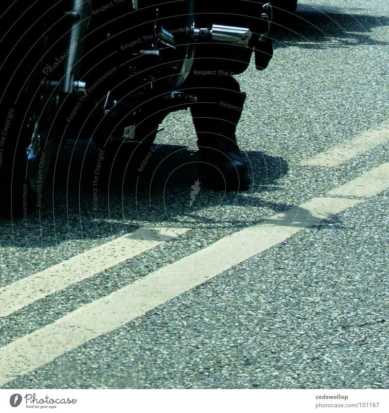 Man Street Transport Motorcycle Traffic infrastructure Boots Rockabilly Rock'n'Roll England Rocker Motorcyclist Brighton Lane markings Accord Royal