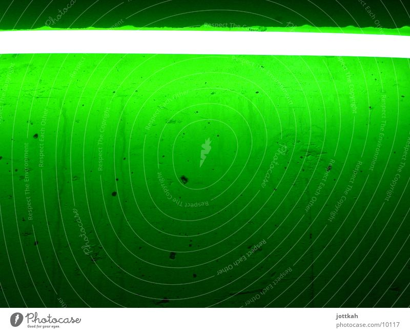 Green makes you happy Light Lamp Neon light Wall (building) Photographic technology Lighting Bright Colour