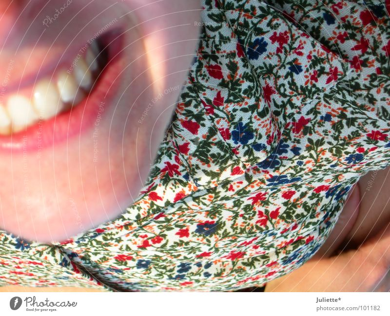 Grins =) Flower Meadow Woman Joy Youth (Young adults) Lie Laughter Funny Teeth