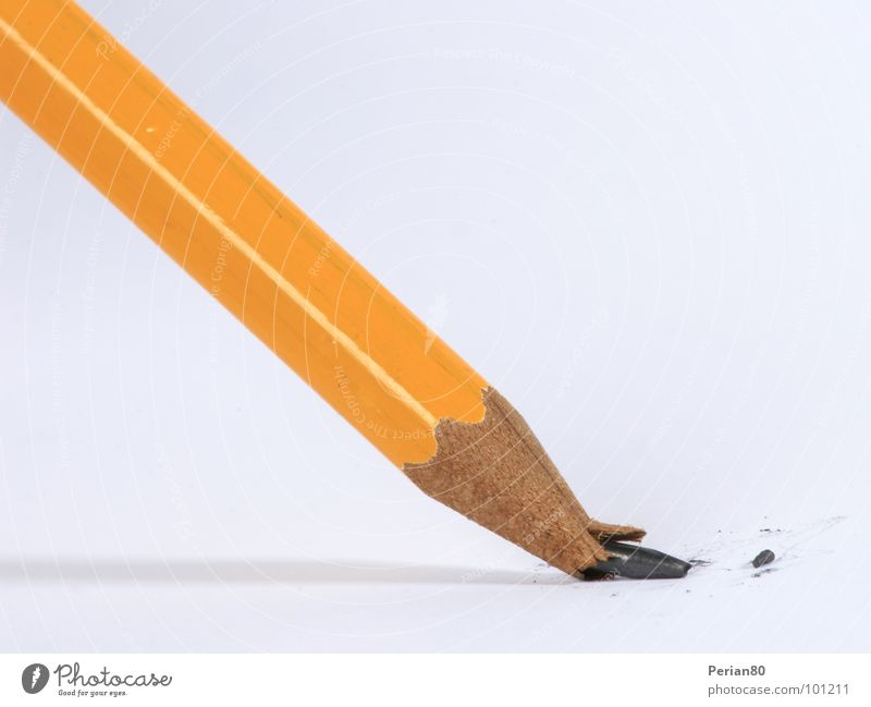 Orange Broken Pen Disaster Pencil Pencil lead
