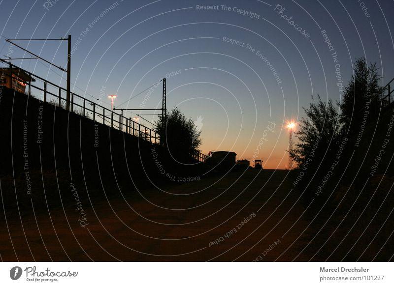 Calm Dark Moody Time Industry Transience Creepy Lantern Train station Arise