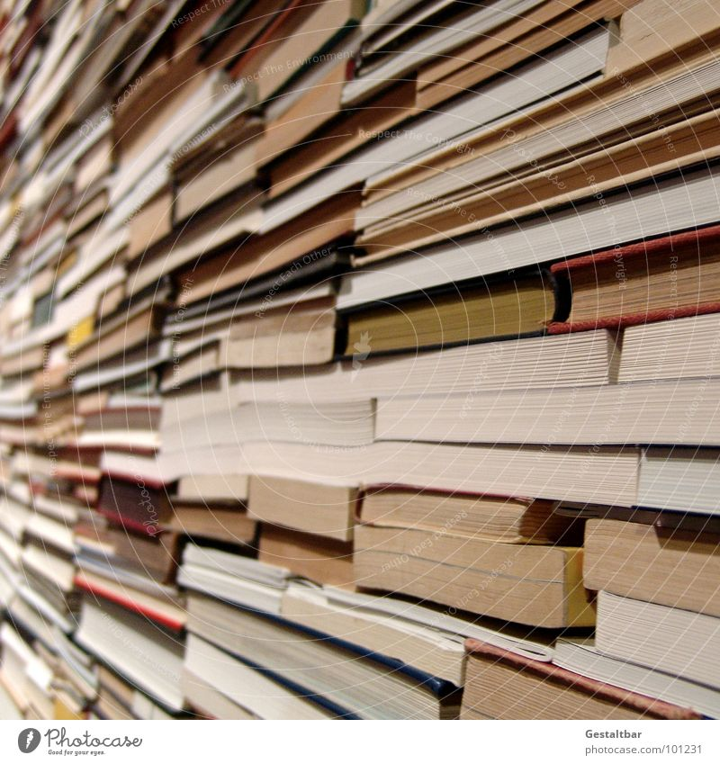 Literary Quartet II Book Heap Reading Search Find Letters (alphabet) Paper Waste paper Work of art Formulated Education Media Stack you can use it a lot Reader