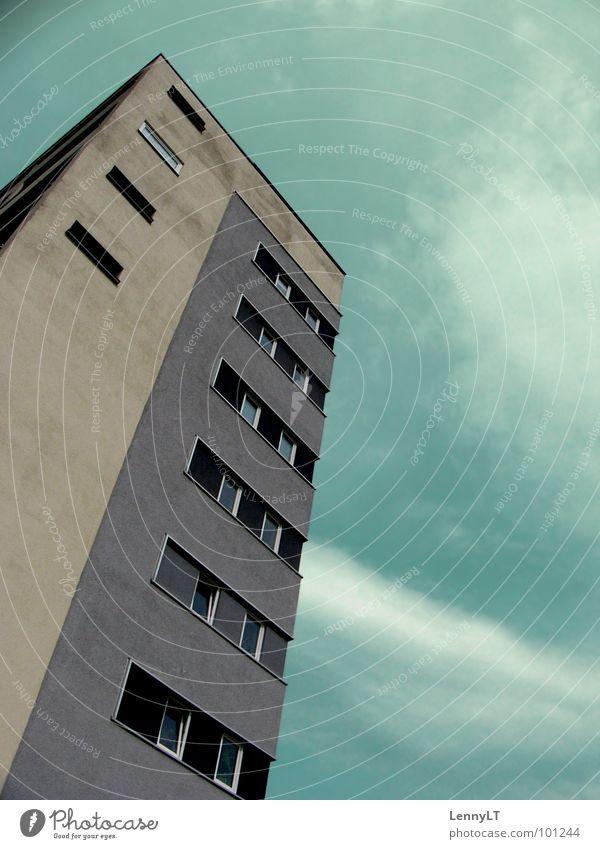 Sky Green Dark High-rise Services Turquoise Geometry Graphic Freiburg im Breisgau Pastel tone