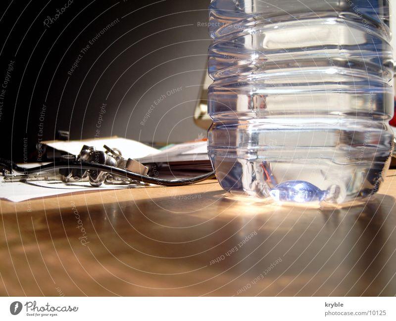 Water Lamp Glittering Table Trash Desk Bottle Smoothness Bottle of water Bottle of mineral water