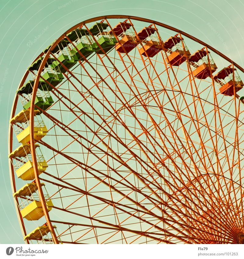 Sky Green Red Joy Yellow Colour Metal Tall Large Might Steel Rotate Fairs & Carnivals Turquoise Iron Oktoberfest