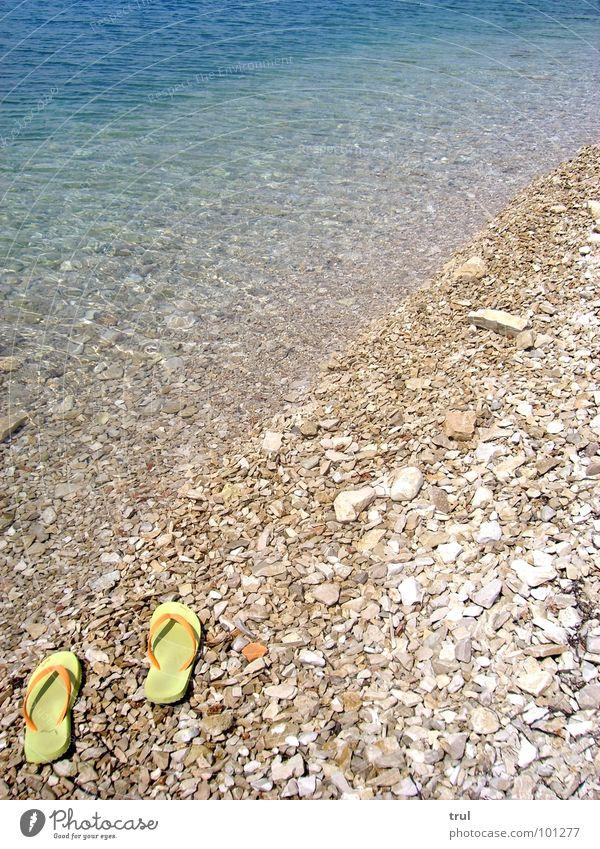 Water Ocean Summer Vacation & Travel Far-off places Stone Flip-flops Footwear