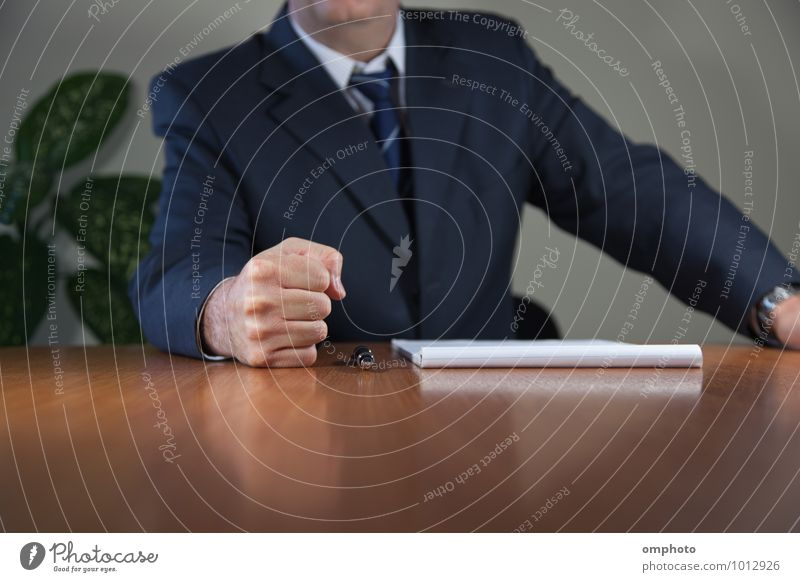 Man and a Fist Human being Hand Adults Masculine Office 45 - 60 years Table Paper Male senior Shirt Meeting Force Suit Aggression Pen