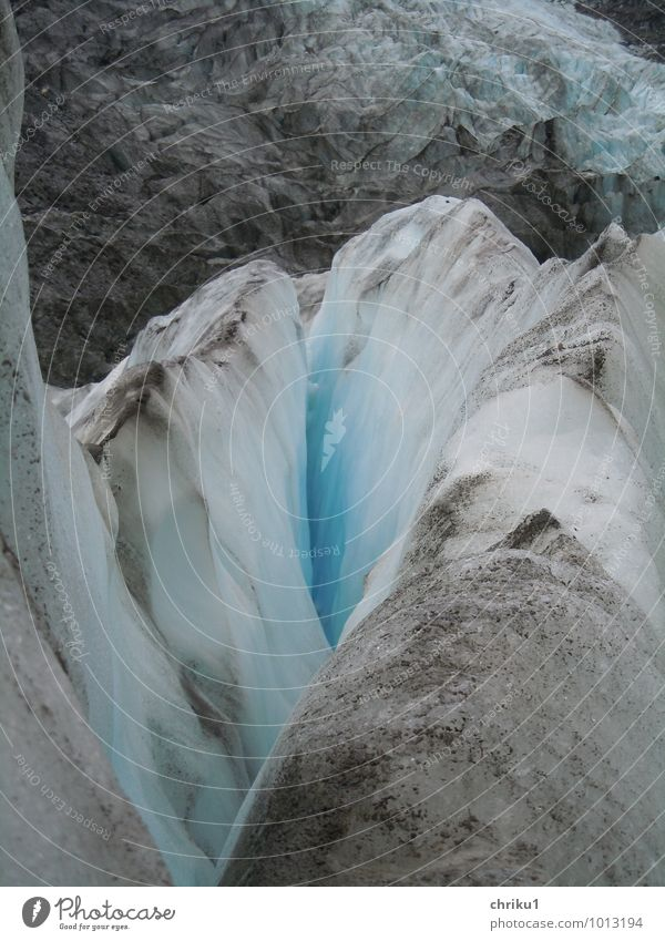 Franz-Josef-Blue Vacation & Travel Tourism Adventure Nature Climate change Ice Frost Mountain New Zealand Glacier Dirty Cold Gray Colour photo Exterior shot