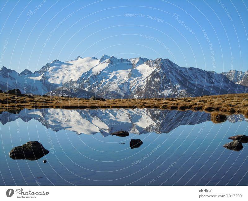 Sky Nature Water Landscape Calm Mountain Autumn Freedom Lake Alps Snowcapped peak