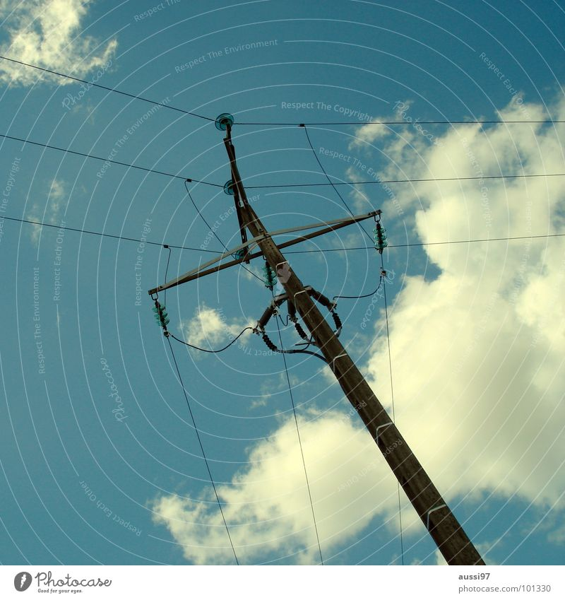 Crazy Industry Energy industry Electricity Cable Net Media Connection Society Electricity pylon Overhead line Provision Monopoly