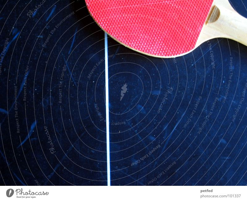 Red Sports Playing Wood Gray Leisure and hobbies Stripe Round Section of image Partially visible Table tennis Table tennis table Dark background Field line