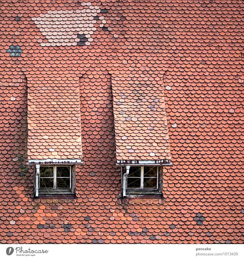 Good prospects House (Residential Structure) Dream house Window Roof Authentic Friendliness Historic Red Esthetic Contentment Joie de vivre (Vitality) Nostalgia