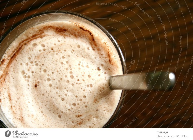 Wood Glass Bubble Delicious Foam Wood grain Spoon Powder Hot Chocolate Vending machine Dairy Products