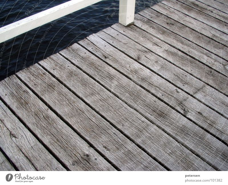 wrong track Ocean Footbridge Wood Washed out Plank Maritime Harbour Baltic Sea Water Wooden board