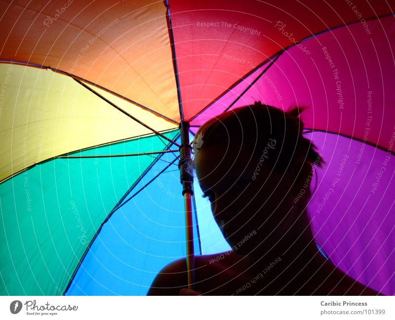 under my umbrella.... Umbrella Autumn Wet Multicoloured Colour siluette light-dark contrast Rain