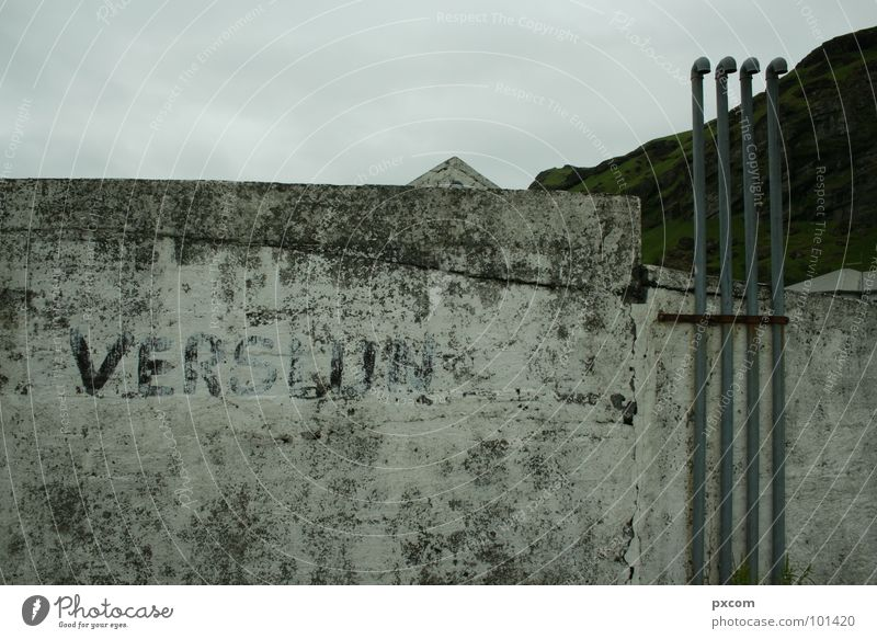 Sky House (Residential Structure) Gray Wall (barrier) Point Derelict Pipe Iceland