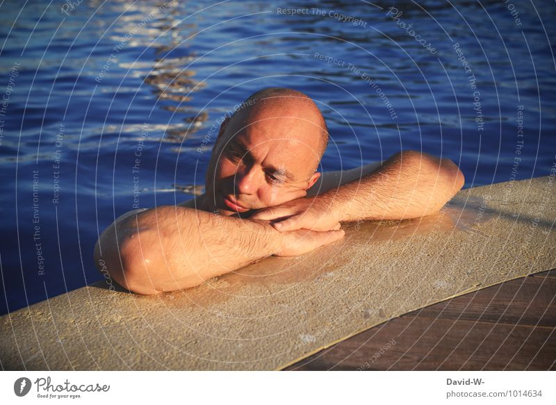Vacation & Travel Man Beautiful Relaxation Calm Adults Life Healthy Swimming & Bathing Masculine Contentment Tourism 45 - 60 years Wellness Male senior Athletic