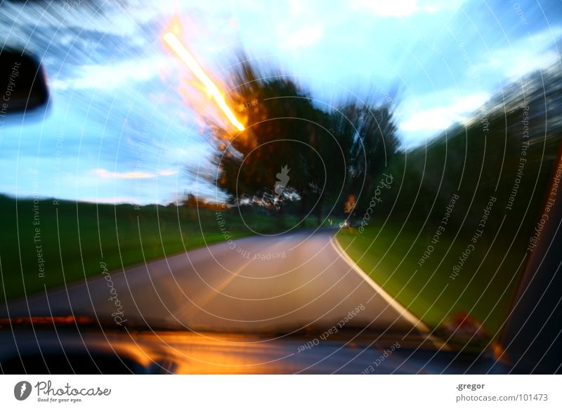 Slow down! Slow down! Driver Driving Leadfoot Walking Speed Tunnel vision Avenue Power Force Long exposure Joy Car Street Lawn expense Haste Alcohol-fueled