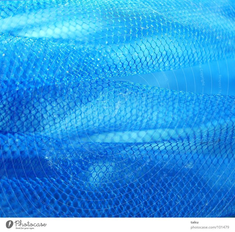 Blue Window Lighting Glittering Kitchen Floor covering Net String Wrinkles Easy Transparent Flexible Pull Fragile Sack Airy