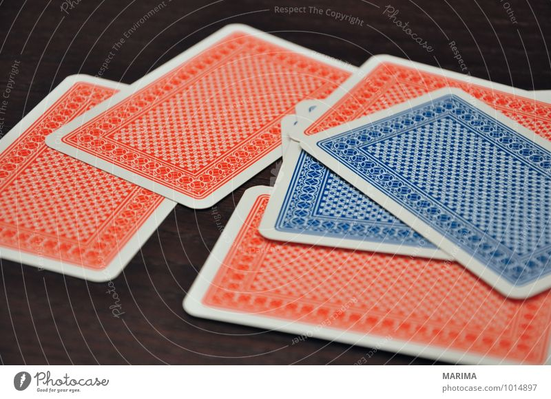 Blue Red Leaf Joy Black Playing Wood Watchfulness Stack Second-hand Poker Game of chance Game of cards