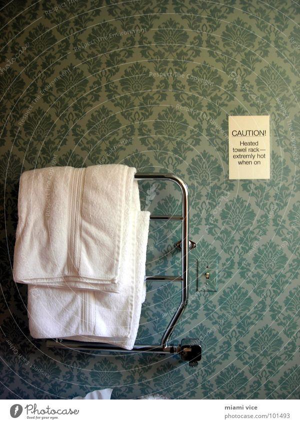 towel rack Wallpaper Signage Warning sign Orderliness Services Towel Hotel Hotel room Section of image Wallpaper pattern towel rail Bracket Clue Warning label