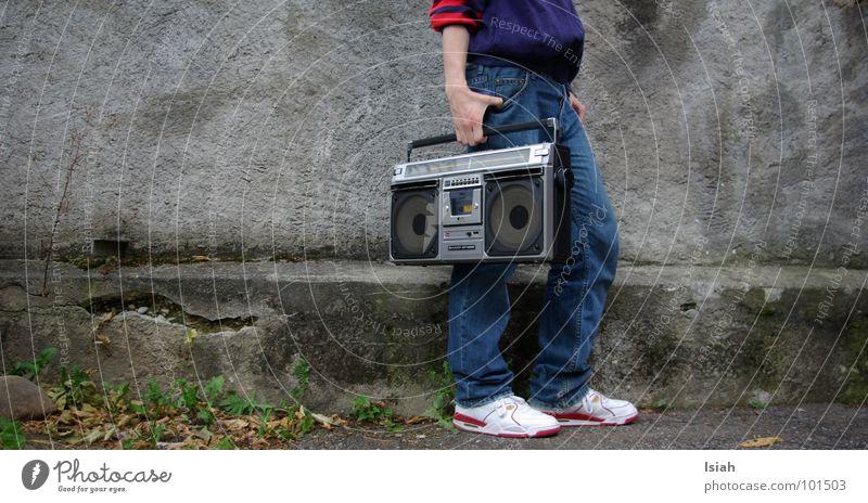 Dark Cold Music Concert Suitcase Carrying Hip-hop Old-school Recitative Ghetto blaster
