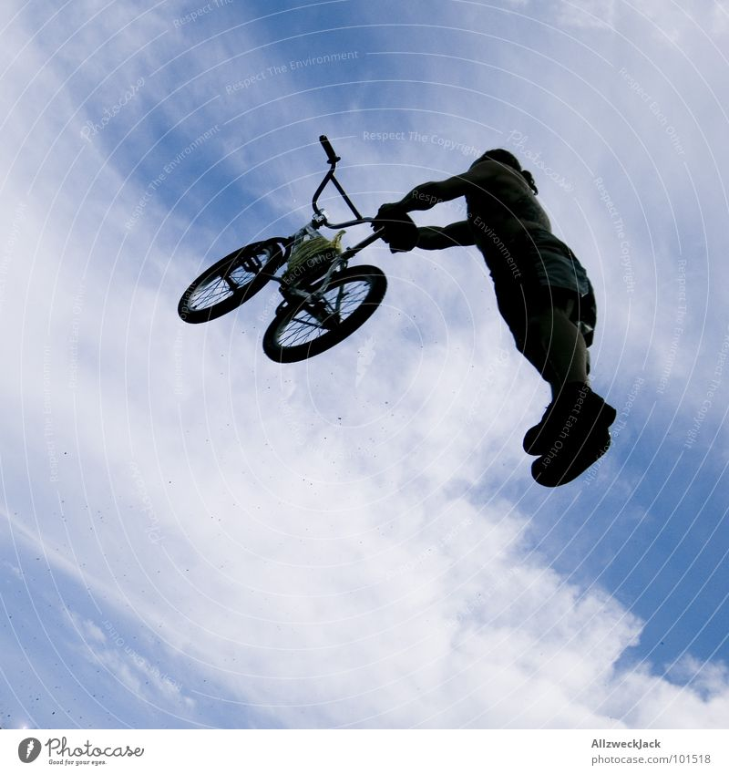 Sky Joy Far-off places Sports Playing Jump Freedom Air Bicycle Airplane Beginning Tall Aviation To fall Infinity