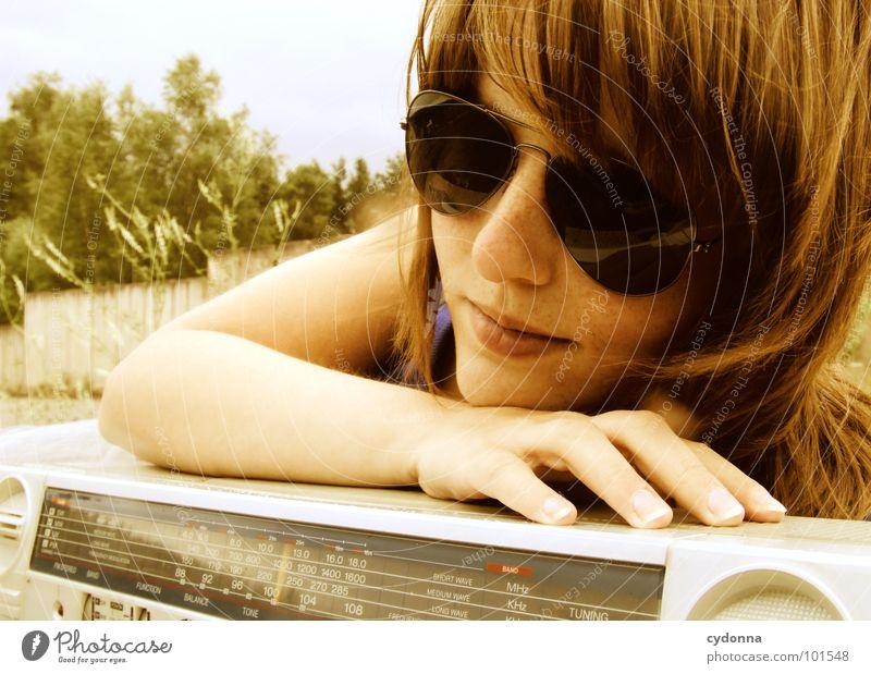 Woman Human being Nature Joy Face Loneliness Party Emotions Style Music Landscape Concrete Sit Action Cool (slang) Lie