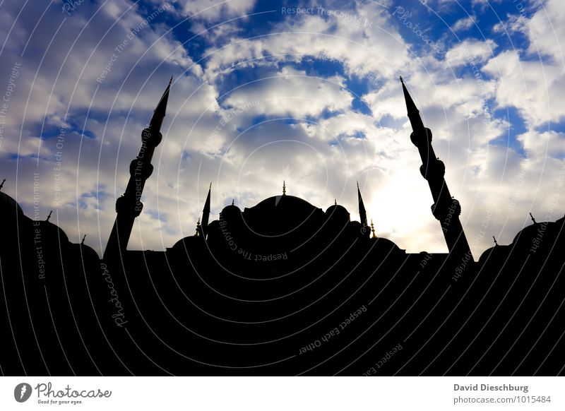 mosque Vacation & Travel Tourism Far-off places Sightseeing City trip Town Church Tourist Attraction Landmark Blue Yellow Black White War Crisis Istanbul Mosque