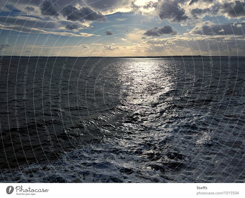 ON TO NEW SHORES North Sea Far-off places Sea voyage Nordic Nordic romanticism Nordic nature Cruise Ocean Seaside atmopshere Waves Wanderlust certain light