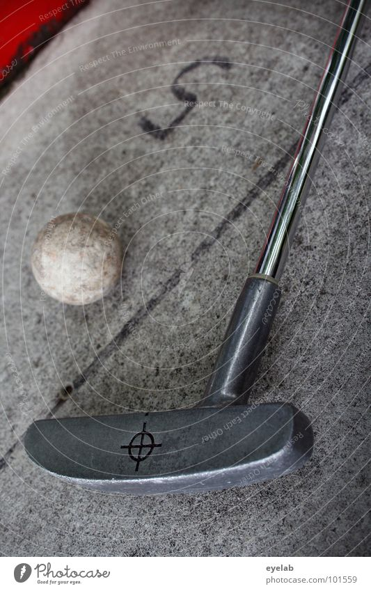 5 above par Mini golf Playing Vacation & Travel Leisure and hobbies Golf club Mini golfclub Golf ball Red Gray Steel Railroad boundary Stalk Digits and numbers