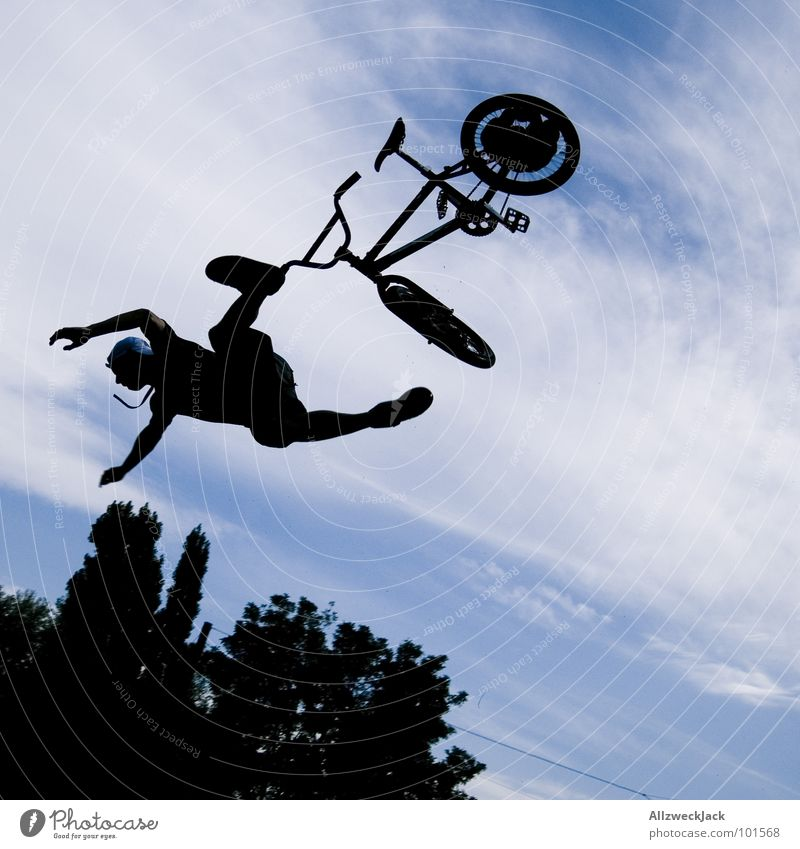 Sky Joy Far-off places Sports Playing Jump Freedom Air Bicycle Airplane Flying Beginning Tall To fall Infinity