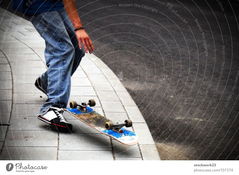 Joy Street Flying Jeans Skateboarding Sidewalk Sneakers Hover Trick Curbside