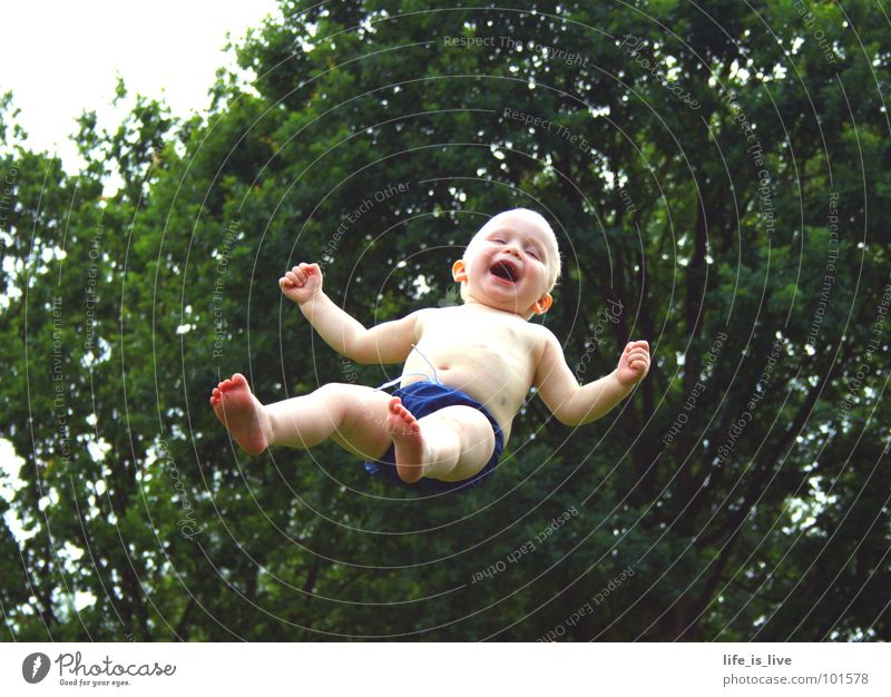 Child Summer Joy Laughter Baby Swimming & Bathing Flying Action Sweet Toddler Funsport Weightlessness Risk of accident
