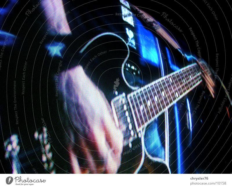 chris shiflett on sreen Screen Pixel Concert Music Guitar Rock music Blue