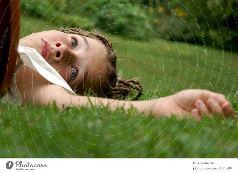 Hand Green Summer Face Eyes Meadow Grass Small Lie Fingers Sleep Lips Fatigue Student Pot Braids