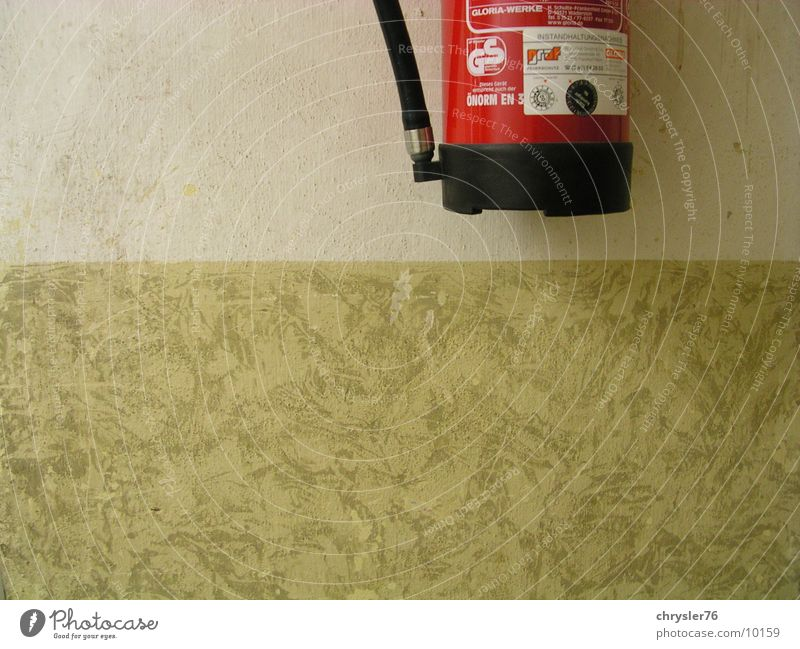 firewall Wall (building) Extinguisher Safety Photographic technology fire alarm Partially visible weissnixmehr