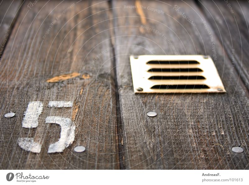 Wood Door Digits and numbers Gate 5 Symbols and metaphors Wooden board Wooden wall Ventilation Texture of wood