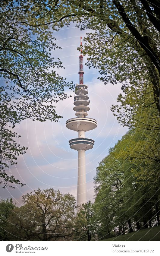 Green Architecture Building Tower Hamburg Manmade structures Monument Landmark Tourist Attraction Berlin TV Tower Port City Gigantic Famousness Hamburg TV tower