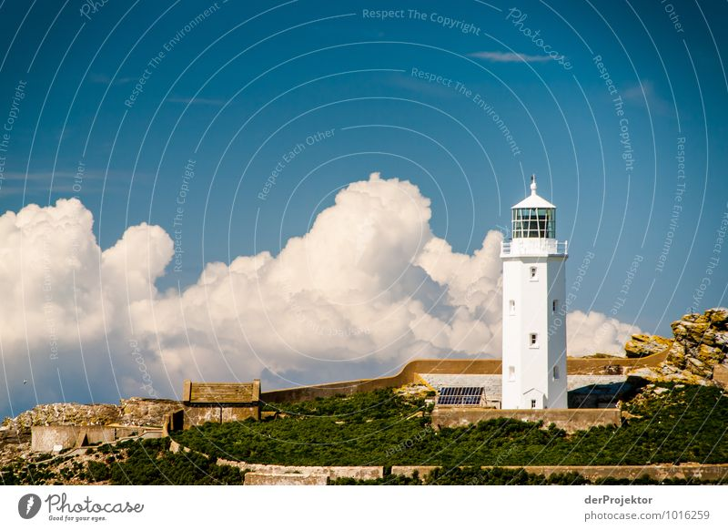 Lighthouse in Cornwall with clouds Leisure and hobbies Vacation & Travel Tourism Trip Adventure Far-off places Freedom Summer vacation Environment Nature