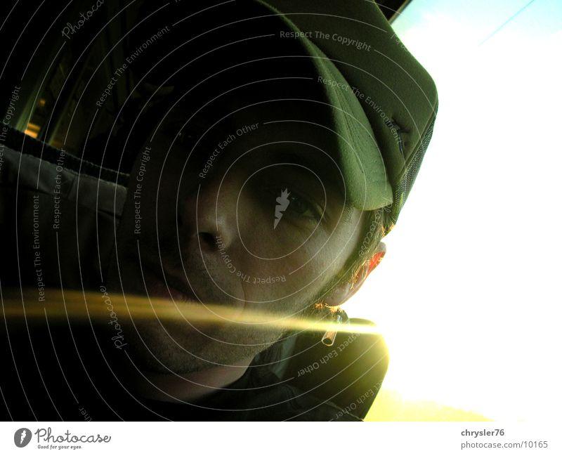 backlight Green Cap Light Radiation Human being Railroad Face