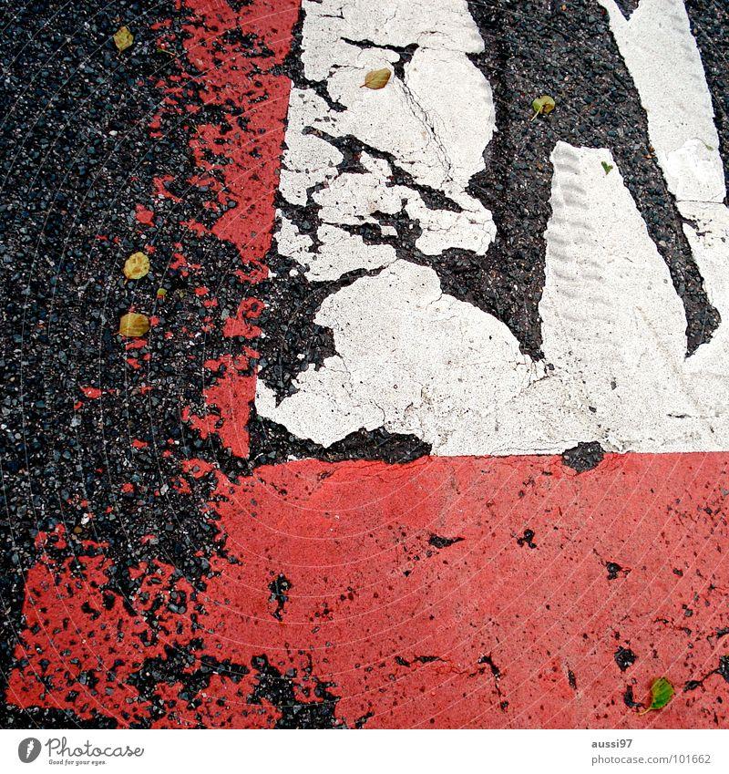 Street Signs and labeling Signage Asphalt Traffic infrastructure Parking lot Bans Flake off Parking garage Diminish