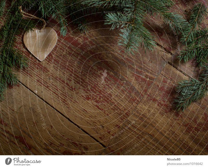 Christmas & Advent Heart Floor covering Vintage Hallway Wooden floor Coniferous trees Fir branch